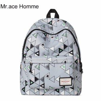 Balo Thời Trang Mr.ace Homme MR16C0366B01 / Xám phối họa tiết