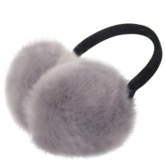Unisex Women Men Faux Fox Fur Winter Warm Earmuff Earlap Winter Ear Muffs Warmer Muff Grey - intl