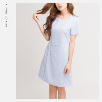 Đầm nút Light Blue Lilya SF17 (Xanh)