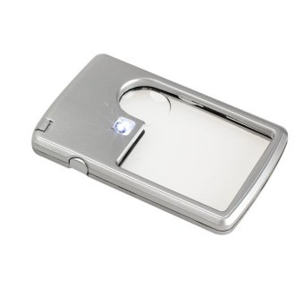 Ultra Thin 3x 6x Magnifier Light Jewelry Loupe Credit Card Shape (Intl:)