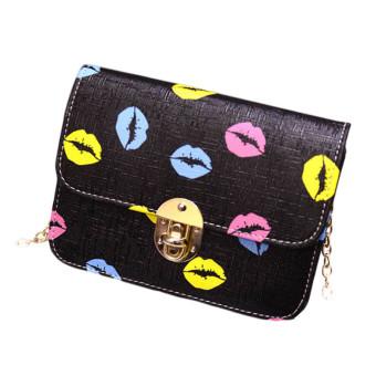 Fashion Women Handbag PU Shoulder Bag Satchel Messenger Bag Hobo Tote Black