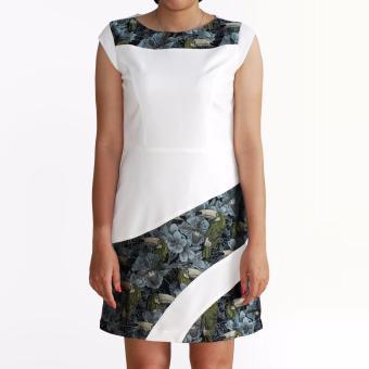 Đầm Elegant Lady OYO FASHION (trắng)