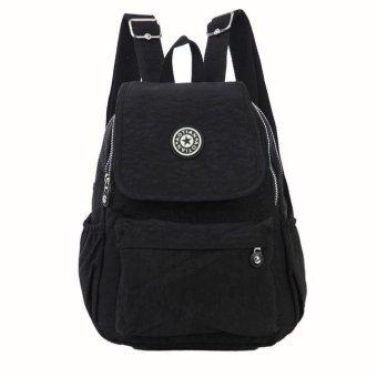Girls Boys Nylon leisure Backpack Rucksack School Satchel Hiking Bag Bookbag - intl