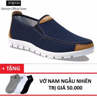 Giày Sneaker Thời Trang Zapas - GS045 (Xanh) + Tặng Vớ Nam Ngẫu Nhiên