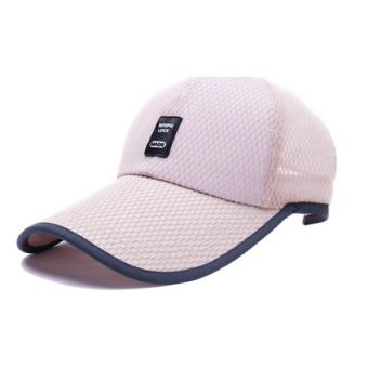 Moonar Outdoor Sun Baseball Hat Fashion Colorful Golf Mesh Breathable Cap (Khaki) - intl
