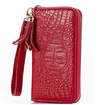 Ví nữ cầm tay da bò Thành Long 204038-2 (đỏ)