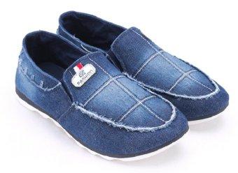 Giày lười thể thao nam AZ79 MNTT0021005A2 (Xanh đậm)