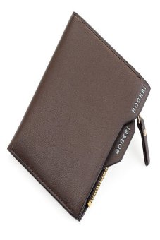 HKS Mens Faux Leather ID Credit Card Holder Clutch Bifold Coin Purse Wallet (Brown) - intl