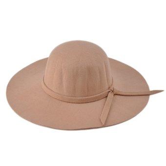 Moonar Women Vintage Big Brim Sun Shade Hat Cap Camel