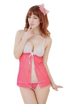 Váy ngủ ren Huy Kiệt HK100 (Hồng)