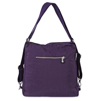 JINQIAOER Women Shoulder Messenger Crossbody Bag Zipper Type Waterproof Multifunctional (Purple) - intl