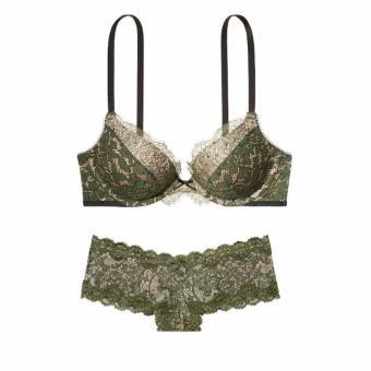 Bộ đồ lót victoria's secret push up bra chính hãng ( màu xanh ) BAQ100