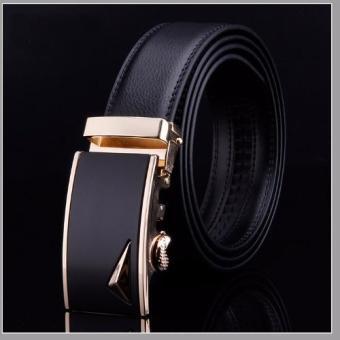 Dây nịt nam thời trang DN77 (Dây đen mặt đen)