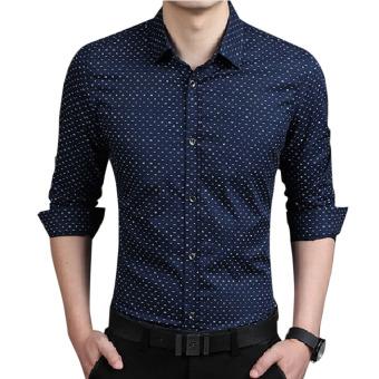 Men Luxury Slim Fit Stylish Casual Shirt Blue - Intl - intl
