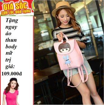 Ba lô hình hotgirl thời trang cao cấp hàn quốc + Tặng 1 áo thun body nữ
