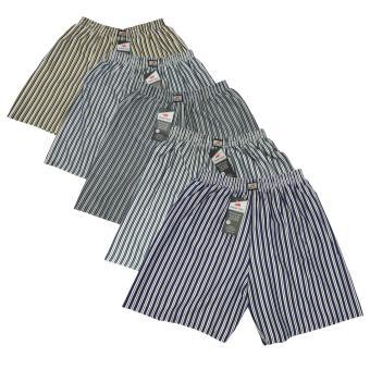 Bộ 5 quần đùi nam mặc nhà phối sọc VFSHORTS 0227 (Size 7)