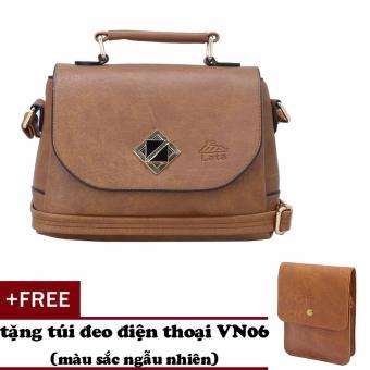 Túi đeo chéo nữ đa năng LATA HN30 (Bò nhạt )+ Tặng ví Vn06