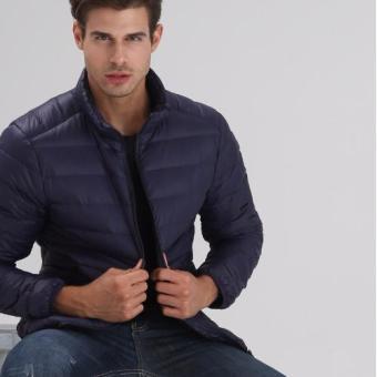 Áo khoác phao nam siêu nhẹ L&A fashion (Xanh tím than)