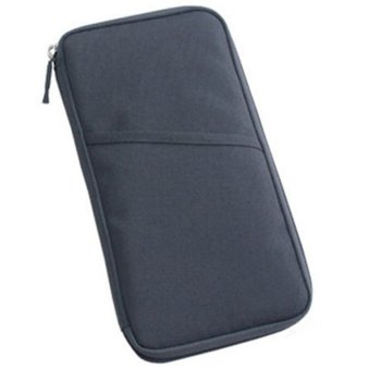 Moonar Travel Passport Credit ID Card Holder Cash Organizer Purse Wallet (Grey)