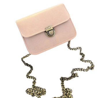 Lovely Girl Pu Leather Mini Small Adjustable Shoulder Bag Handbag Pink (Intl)
