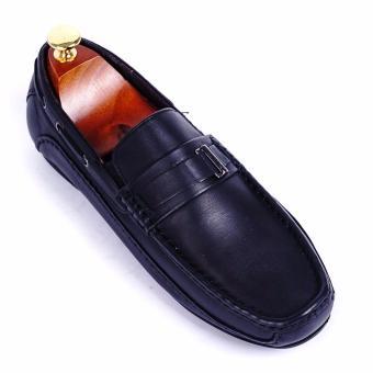 Giày lười nam da thật cao cấp Da Giày Việt Nam - VNLB017MO4D-1 (Đen)