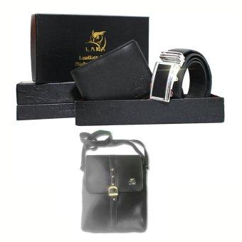 Mua Bộ ví và thắt lưng da Laka (Đen) + 1 túi đeo nam ngẫu nhiên giá tốt nhất