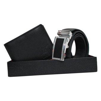 Bộ ví và thắt lưng da Laka (Đen) + 1 túi đeo nam ngẫu nhiên