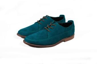 Giày tây cột dây nâu Tathanium Footwear (Xanh dương)