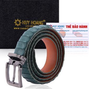 HL5316 - Thắt lưng nữ da trăn Huy Hoàng Vip màu xanh rêu