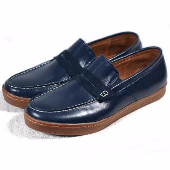 Giày slip-on viền chỉ trắng Tathanium Footwear TFNVUNVS3303 (Xanh Navy)