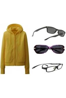 Áo Khoác Chống Nắng Kèm Khẩu Trang (màu vàng)+ 01 Kính chống tia UV