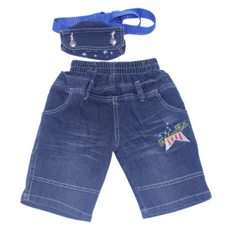 Quần dài jean + túi đeo cho bé trai 1-9 tuổi Tri Lan QDBT006 (Xanh)