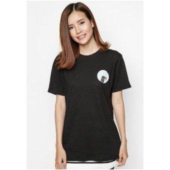 Áo thun logo Pet lovers chó Side Dachshund (Đen)