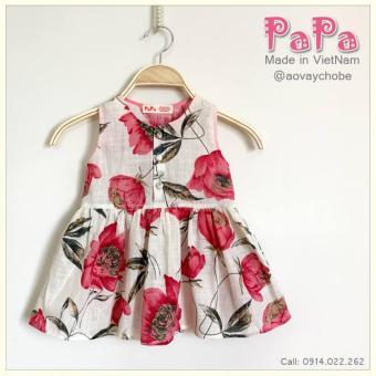 Đầm Hoa Hồng Khuy Lưng Papa Fashion