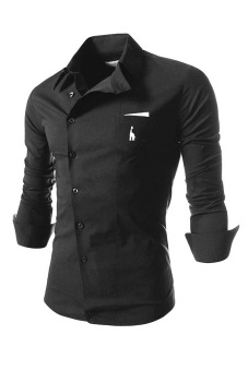 Reverieuomo CS36 Single-breasted Shirt (Black) - Intl
