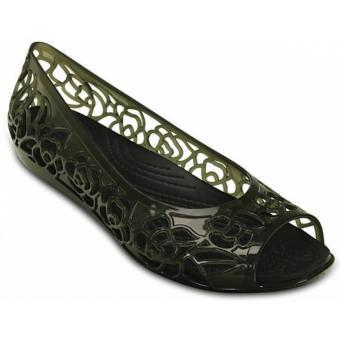 Giày búp bê Crocs Crocs Isabella Jelly Flat W Black 203285-001 (Đen)