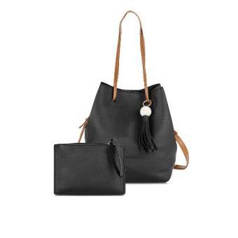 Bộ túi bucket và ví cầm tay GgCBTV01 (đen)