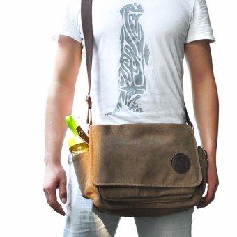 Canvas Vintage Washed Messenger Shoulder Bag - intl