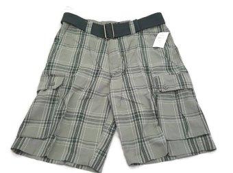 Quần Short Caro Túi Hộp Kèm Nịt Của Nam Burnside Men's Borrowed Belted Plaid Cargo Short (Mỹ)