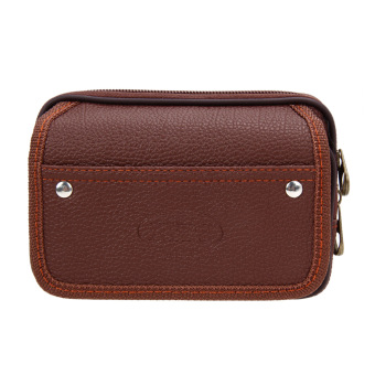 Men PU Leather Wallet(Coffee) - intl