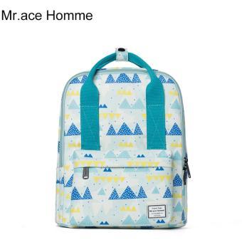 Balo Thời Trang Mr.ace Homme MR16B0325B01 / Trắng phối xanh nhạt