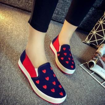 Giày lười họa tiết trái tim
