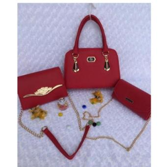 Bộ 3 túi xách nữ kiểu NN 153 (Đỏ)