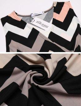 Linemart New Women Casual Cross V-Neck Sleeveless A-Line Pleated Hem Elastic Beach Maxi Dress ( Grey ) - intl