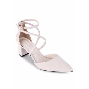 Giày Sandals Cao Gót Lozido L027 (Kem)