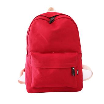 Women Canvas School Bag Girl Backpack Travel Rucksack Shoulder Bag Red - Intl