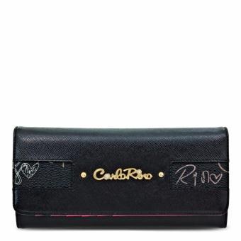 Ví nữ nấp gập Carlo Rimo 0303550-502-08 (màu đen)