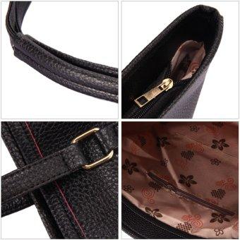 Simple Pure Color Elegant Large Capacity Handbag Shoulder Bag Black - intl