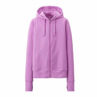 Áo khoác chống nắng cotton DMA store (tím) tặng 1 đôi tất chống trơn trượt và 1 khẩu trang hoạt tính