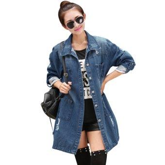 Women Casual Denim Plus Size Jacket - intl